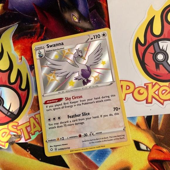 Pokemon Swanna card shining fates